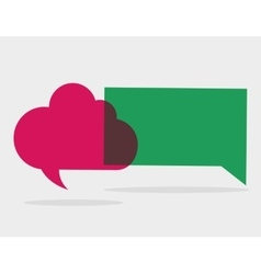 Communication design bubble icon conversation vector