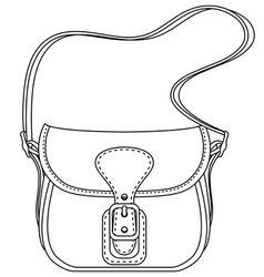 Contour Ladies fashion bag vector image