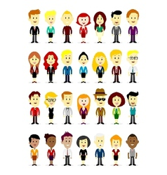 Cute Cartoon Business Man and Woman Characters vector
