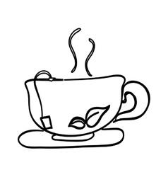 Delicious tea cup vector