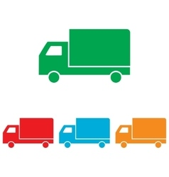 Delivery sign Colorfull set vector image