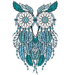 Dreamcatcher owl vector