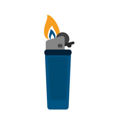 fire flame lighter vector image