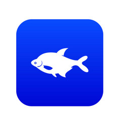 fish icon digital blue vector image