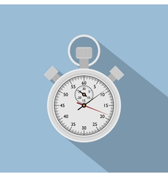 Flat stop watch vector