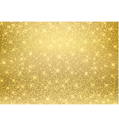 Gold glitter dust texture shining on golden vector
