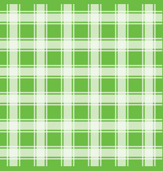 Green seamless pattern gingham background vector