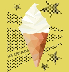 ice cream low polygon style vector image