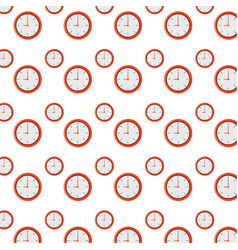isolated round clock background vector image