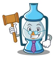 Judge lantern character cartoon style vector