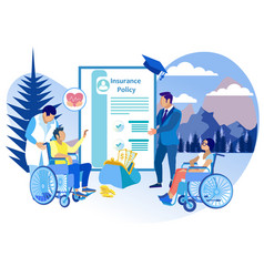 Life insurance for people with disabilities flat vector