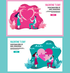 lovers together paint a heart shape lovers vector image