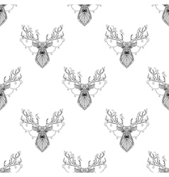 Magic reindeer seamless pattern vector