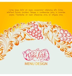 Menu design wine list vector