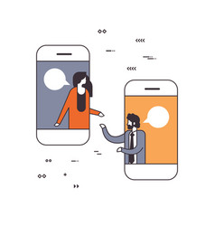 mobile application business people online chat vector image