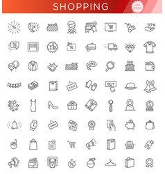 Outline icon collection - black friday big sale vector