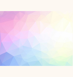 pastel geometric low poly background vector image