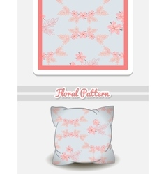 Pillow Pink Flowers vector
