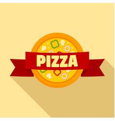 pizza logo flat style vector image