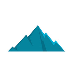 Pointing mountain icon flat style vector