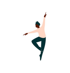 professional african american male ballet dancer vector image