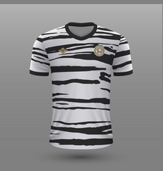 Realistic soccer shirt south korea away jersey vector