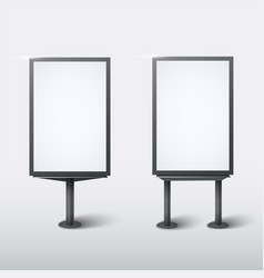 realistic street light box template on white vector image