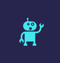 robot assistant icon vector image