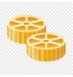 route pasta icon realistic style vector image
