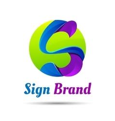 S letter shape logo design template Creative vector