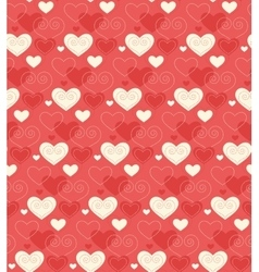 Seamless Festive Love Abstract Pattern with Hearts vector image