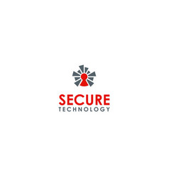 security technology logo vector image