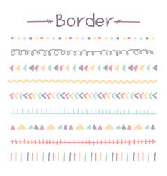 Set of colorful doodle borders vector