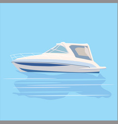 set pleasure boats of different colors cartoon vector image