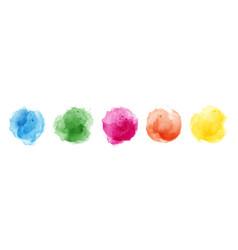 set watercolor circles multicolored vector image