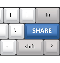 Share key on a computer keyboard vector image
