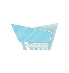 shopping mall or office building facade modern vector image