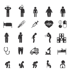 Sick icons People pictograms vector
