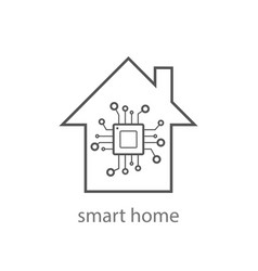 Smart home sign icon smart house button remote vector