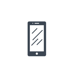 smartphone flat related glyph icon vector image