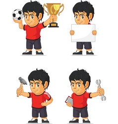 Soccer Boy Customizable Mascot vector