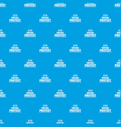 social protest pattern seamless blue vector image
