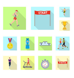 sport and winner sign vector image
