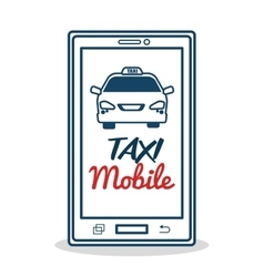 Taxi service mobile aplication transport vector