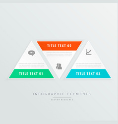 three triangle shapes infographic template with vector image