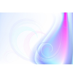 Transparent curves in wavy mesh background vector image