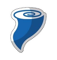 twister storm isolated icon vector image