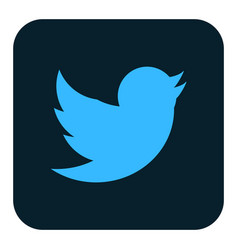 Twitter dark logo icon vector