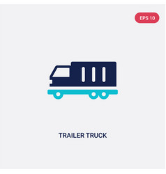 two color trailer truck icon from airport vector image