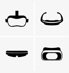 Virtual glasses vector